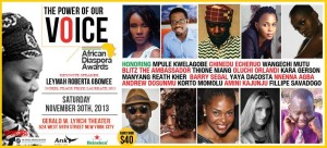 The Annual African Diaspora Awards 2013|NYC| Tonight!!