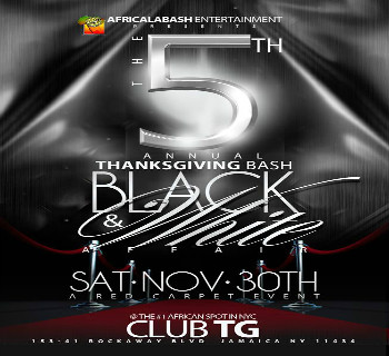 The official New York City Thanksgiving Bash |Nov 30th|Club T.G