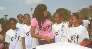 Chika Ike Celebrates Birthday With Primary School Students In Asaba [PHOTOS