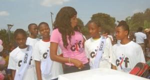 Chika Ike Celebrates Birthday With Primary School Students In Asaba [PHOTOS