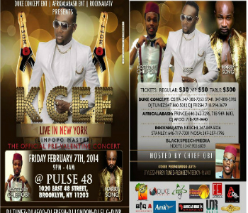 KCEE LIVE IN NEW YORK FRIDAY FEBRUARY 7TH 2014