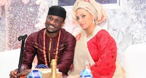 Banky W Performs Yes/No At Peter Okoye & Lola Omotayo's Wedding
